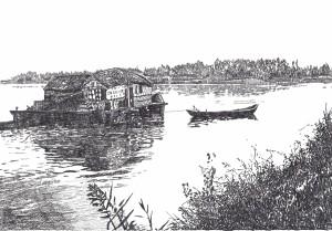 il mulino natante sul Po a Melara (RO)